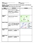 Angle Note Sheet