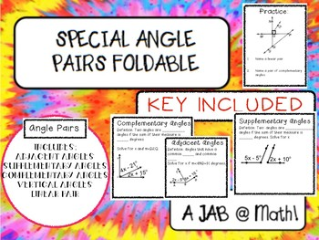 Angle Pair Foldable