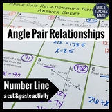 Angle Pair Relationships Cut and Paste Activity