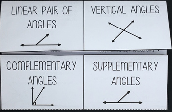 Angle Pair Relationships Interactive Foldable