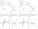 Angle Pair Relationships Notebook Pages