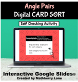 Angle Pair Relationships Parallel Lines Digital Card Sort