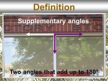 Angle Pair Relationships in a PowerPoint Presentation