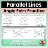 Angle Pair Relationships with Parallel Lines Geometry