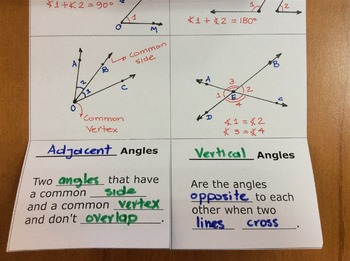 Foldable Angle Pairs