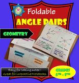 Foldable Angle Pairs