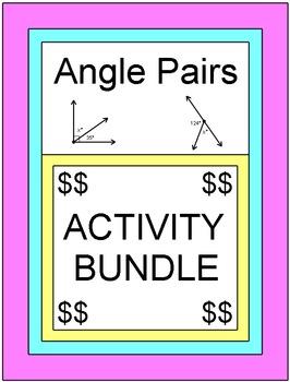 ANGLES: ANGLE PAIRS - ACTIVITY BUNDLE (4 SETS OF BOOM DIGITAL TASK CARDS)