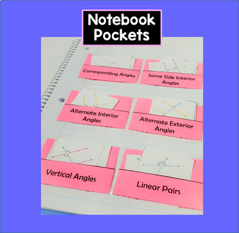 Angle Pairs Card Sorting Activity Interactive Notebook Geometry Parallel Lines