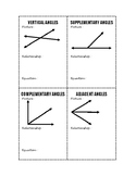 Angle Pairs Flashcards