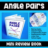 Angle Pairs - Mini Review Book
