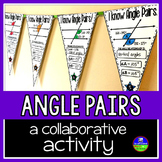 Parallel Lines, Transversals, and Angles Math Pennant Activity
