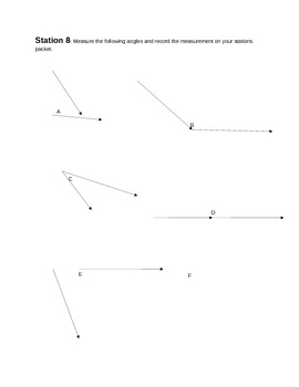 Angle Pairs Stations