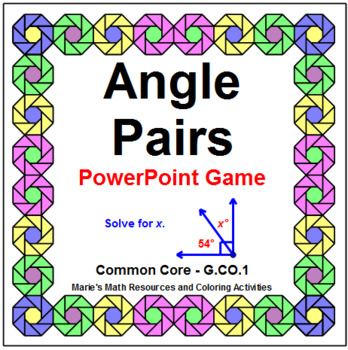 ANGLES: ANGLE PAIRS - WIPE OUT! POWERPOINT GAME