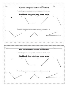Angle Pairs and Triangle Angles: Graphic Organizers/Task Cards Aligned to CCSS