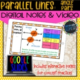 Angle Pairs with Parallel Lines Digital Notes; Distance Le