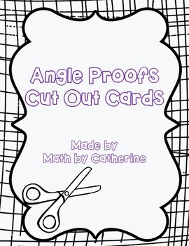 Angle Proofs Cut Out Cards