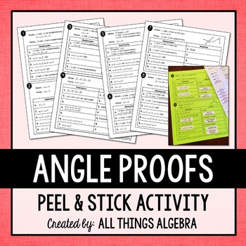 Angle Proofs Peel & Stick Activity