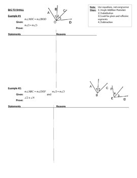 Angle Proofs Worksheet