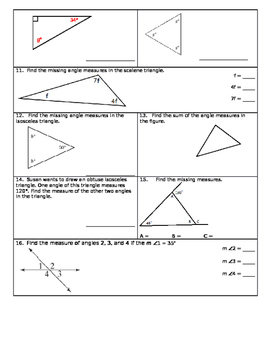 Angle Properties Unit Review