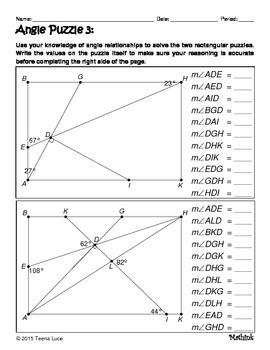 Angle Puzzles