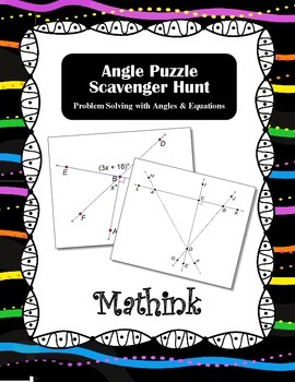 Angle Puzzles Scavenger Hunt