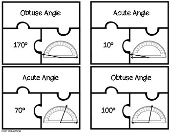 Angle Puzzles with Protractors