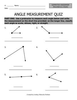 Angle Quiz