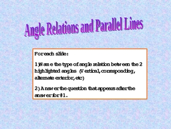 Angle Relations and Parallel lines