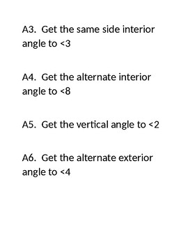 Angle Relationship Relay Race Activity