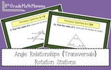 Angle Relationship (Transversals) Rotation Stations