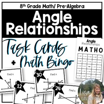 Angle Relationships/ Angle Pairs (Task Cards)