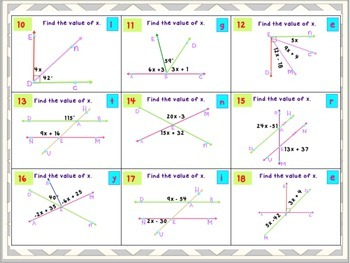 Angle Relationships 7th Grade Bundle