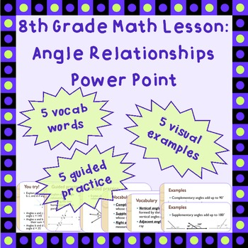 Angle Relationships - A Power Point Lesson