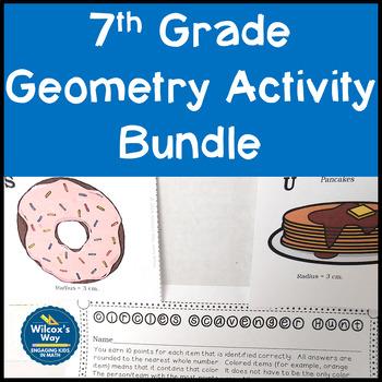 7th Grade Geometry Activity Bundle