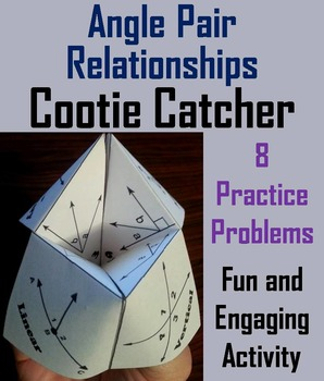 Angle Relationships Activity for 7th 8th 9th 10th Grade
