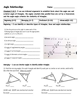 Angle relationships assessment 8g5 by rebecca macdonald tpt angle relationships assessment 8g5 ccuart Choice Image