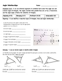 Angle Relationships Assessment - 8.G.5