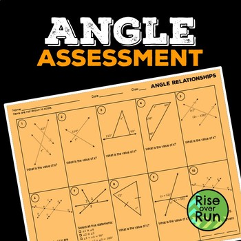 Angle Relationships Worksheet By Rise Over Run Tpt