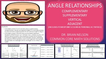 Angle Relationships Bundle (PowerPoint Lessons with Printables!)