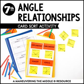 Angle Relationships Card Sort