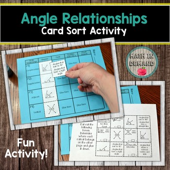 Angle Relationships Card Sort Activity