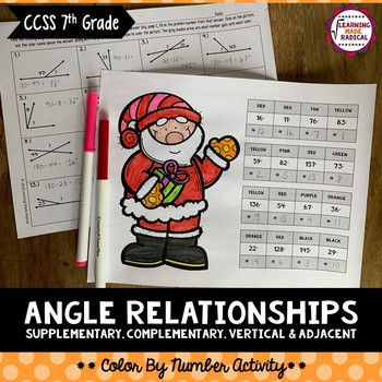 Angle Relationships Color By Number Activity