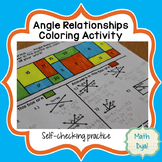 Angle Relationships Coloring Activity