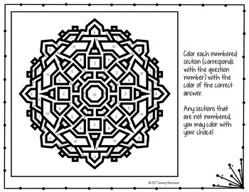 Angles coloring pages ~ ANGLE RELATIONSHIPS MATH COLOR BY NUMBER, QUIZ by The ...