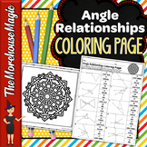 Angle Relationships Common Core Math Color By Number or Quiz