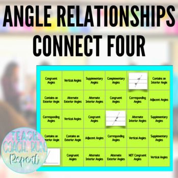 Angle Relationships Connect Four Game