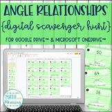 Angle Relationships DIGITAL Scavenger Hunt Distance Learning