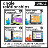 Angle Relationships Digital Math Activity Bundle | 8th Grade Math