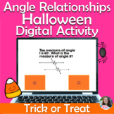 Angle Relationships Digital Trick or Treat Halloween Activity (Self-Checking)