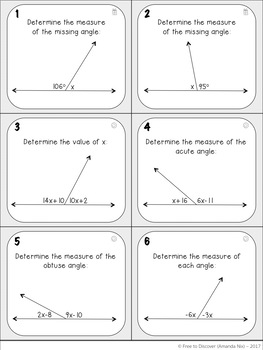 Angle Relationships Activities - Discovery and Practice Bundle